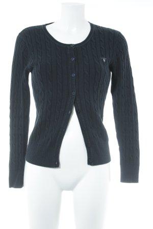 Gant Cardigan dunkelblau Streifenmuster Casual-Look