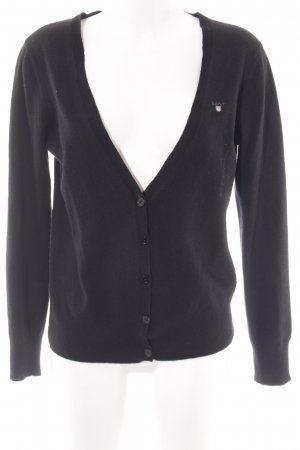Gant Cardigan schwarz Casual-Look