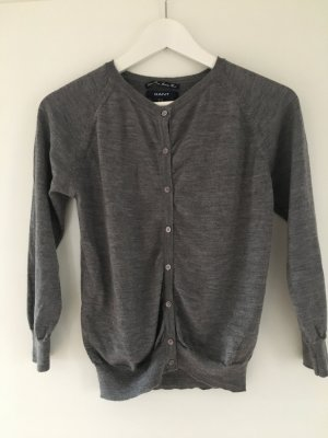 Gant Cardigan Strickjacke aus Merino Wolle, grau, Größe M