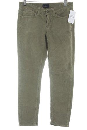 Gant Pantalone di velluto a coste grigio-verde stile casual
