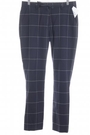 Gant Culottes dark blue-oatmeal check pattern casual look