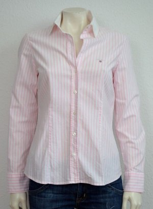 Gant Long Sleeve Blouse white-light pink cotton
