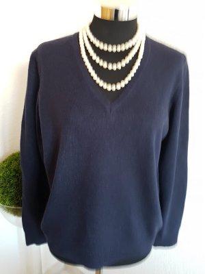 Gant Damenpullover dunkelblau M Lamswool/Cashmere