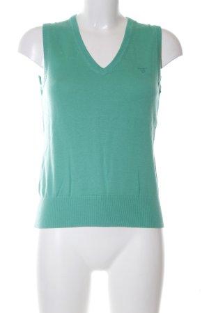 Gant Cardigan en maille fine turquoise style d'affaires