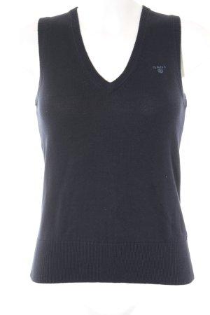 Gant Feinstrickpullunder dunkelblau klassischer Stil