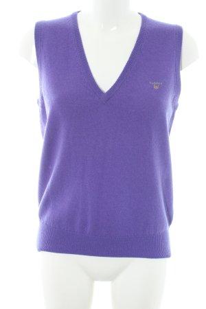 Gant Cardigan en maille fine violet style universitaire