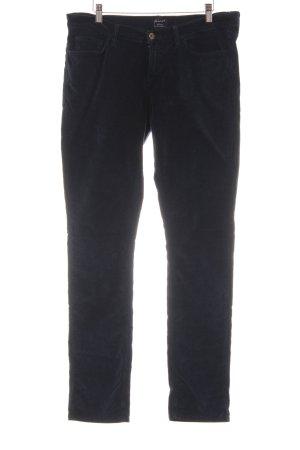 Gant Pantalone cinque tasche blu scuro logo cucito