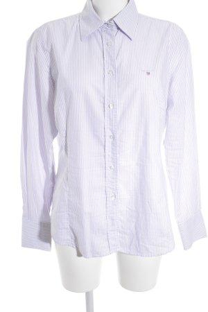 Gant Hemd-Bluse blasslila-weiß Streifenmuster Business-Look