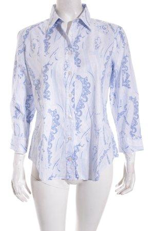 Gant Hemd-Bluse hellblau-blau florales Muster Casual-Look