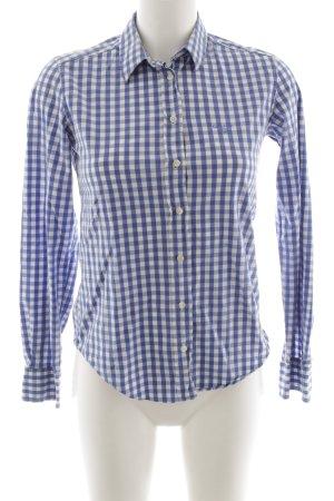 Gant Hemd-Bluse kornblumenblau-weiß Karomuster Business-Look