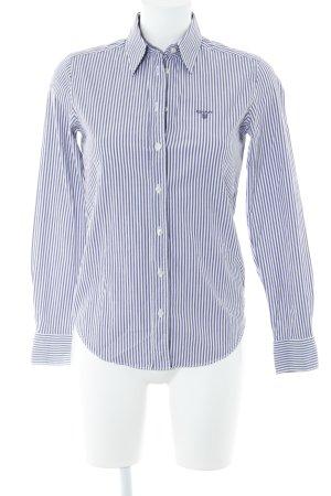 Gant Hemd-Bluse lila-weiß Streifenmuster Business-Look