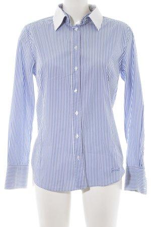 Gant Hemd-Bluse stahlblau-weiß Streifenmuster Casual-Look