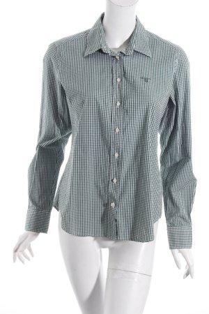 Gant Hemd-Bluse weiß-dunkelgrün Vichykaromuster klassischer Stil