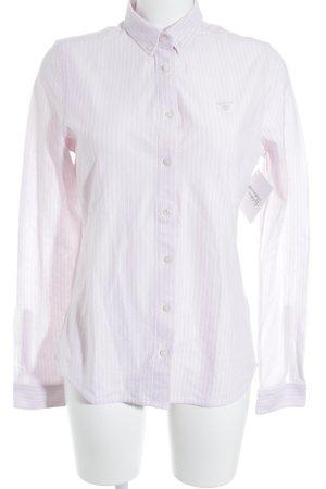 Gant Hemd-Bluse weiß-hellrosa Streifenmuster Business-Look