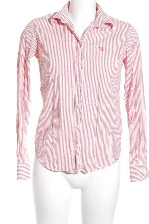 Gant Hemd-Bluse weiß-hellrot Streifenmuster Business-Look
