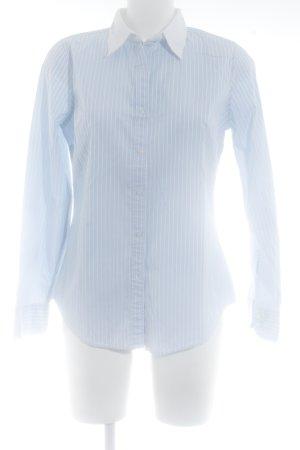 Gant Hemd-Bluse weiß-himmelblau Streifenmuster Business-Look
