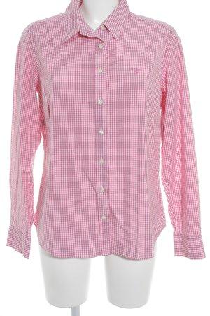 Gant Hemd-Bluse weiß-magenta Karomuster Business-Look