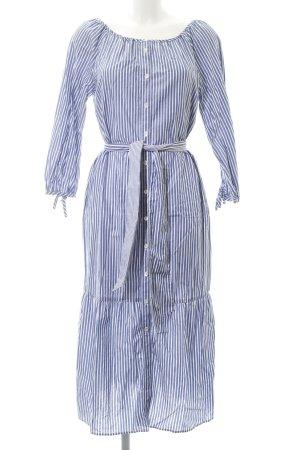 Gant Vestido tipo blusón azul acero-blanco estampado a rayas look casual