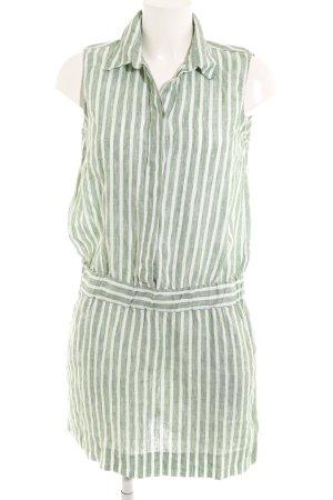 Gant Hemdblusenkleid wollweiß-grün Streifenmuster Casual-Look