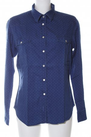 Gant Jeansbluse blau Punktemuster Casual-Look