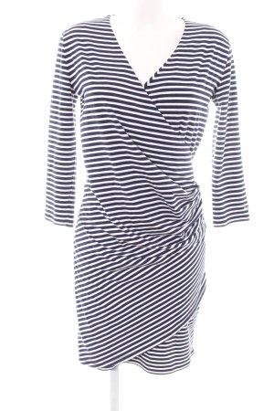 Gant Jerseykleid weiß-blau Streifenmuster Casual-Look