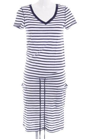 Gant Jerseykleid weiß-dunkelblau Streifenmuster