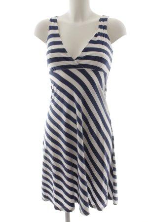 Gant Jerseykleid weiß-dunkelblau Streifenmuster Marine-Look