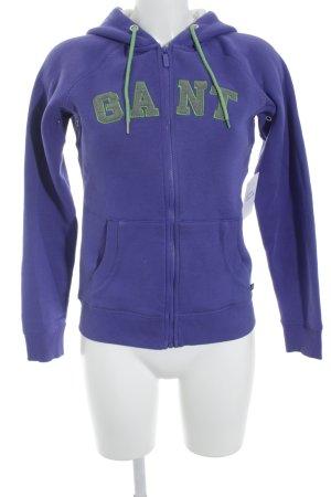 Gant Kapuzenpullover lila-wiesengrün Casual-Look