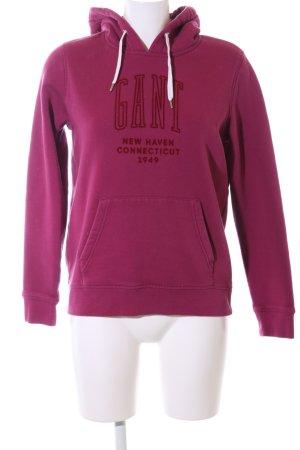 Gant Kapuzensweatshirt rot Schriftzug gedruckt Casual-Look