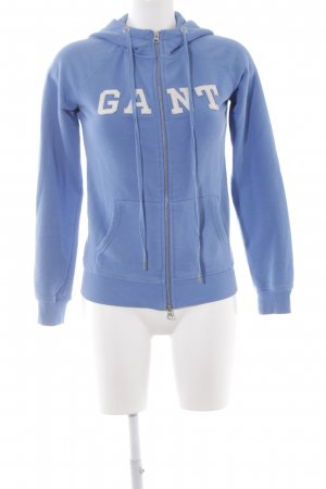 Gant Capuchon vest staalblauw casual uitstraling