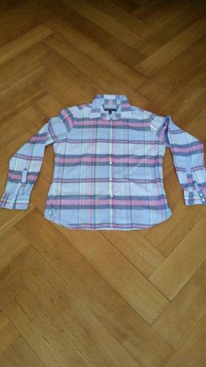 Gant karierte Bluse aus leichtem Baumwollflanell in Größe 44