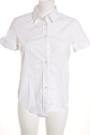 Gant Kurzarm-Bluse weiß Casual-Look