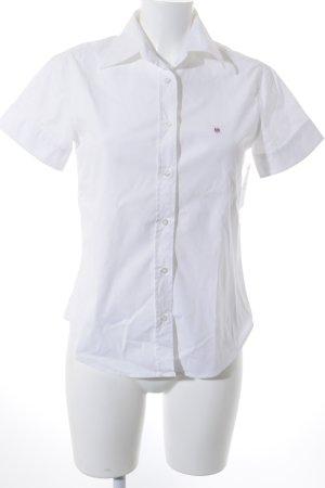 Gant Kurzarm-Bluse weiß klassischer Stil