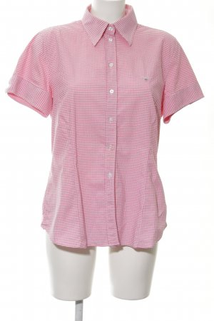 Gant Short Sleeve Shirt raspberry-red-white Vichy check pattern country style
