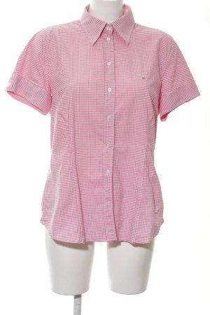 Gant Camicia a maniche corte rosso lampone-bianco motivo a quadri Vichy