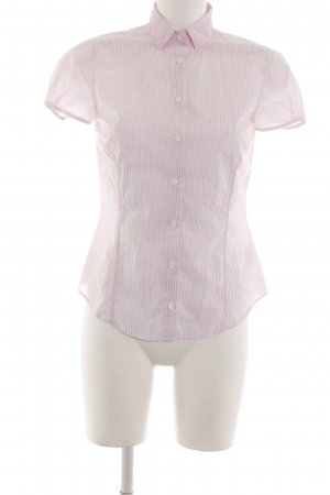 Gant Short Sleeve Shirt pink-white striped pattern business style