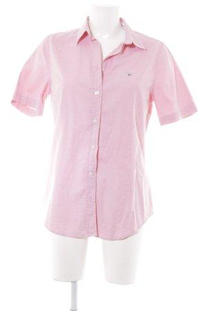 Gant Shirt met korte mouwen stoffig roze-licht beige Webpatroon