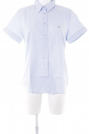 Gant Short Sleeve Shirt pale blue-white weave pattern business style