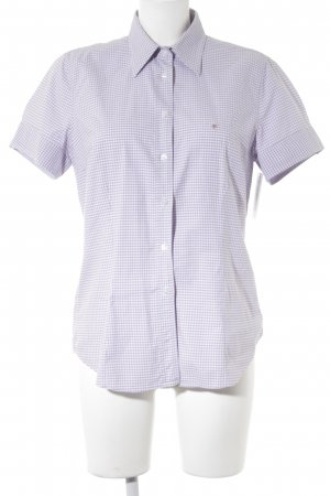 Gant Short Sleeve Shirt purple-white check pattern casual look