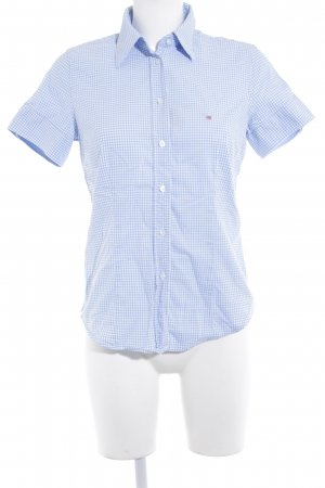 Gant Short Sleeve Shirt azure-white check pattern business style