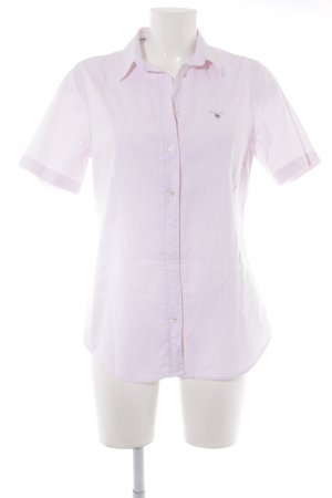 Gant Short Sleeve Shirt pink-white striped pattern casual look