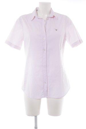 Gant Shirt met korte mouwen rosé-wit gestreept patroon casual uitstraling