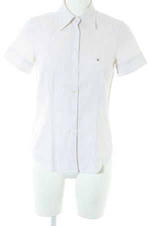 Gant Kurzarmhemd weiß-beige klassischer Stil