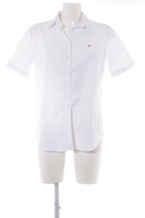 Gant Shirt met korte mouwen wit casual uitstraling