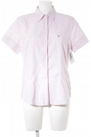 Gant Short Sleeve Shirt white-light pink check pattern casual look