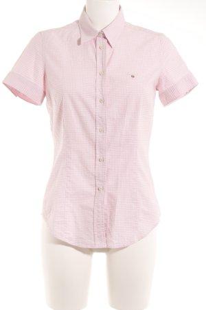 Gant Kurzarmhemd weiß-rosa Karomuster klassischer Stil