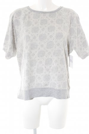 Gant Short Sleeve Sweater light grey-natural white abstract pattern casual look