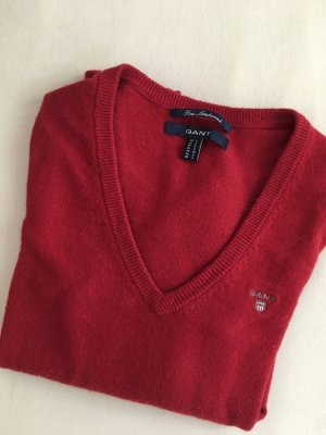 Gant V-Neck Sweater dark red-carmine