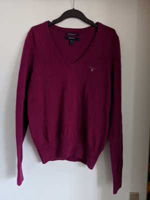 Gant V-Neck Sweater purple