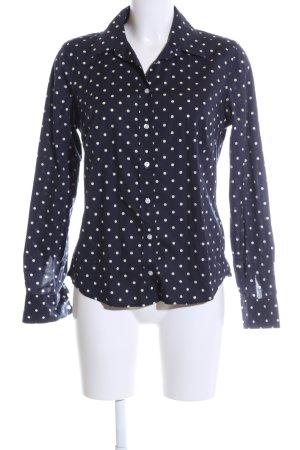 Gant Langarm-Bluse blau-weiß Punktemuster Business-Look